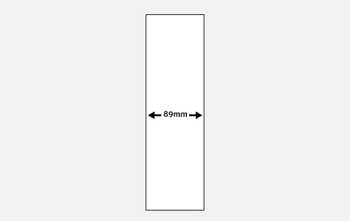 89mm Slat Width Slimline Vertical Blinds