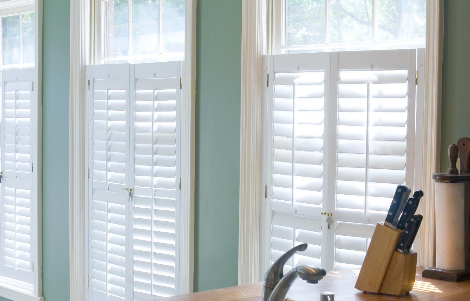 Faux-wood Window Shutters