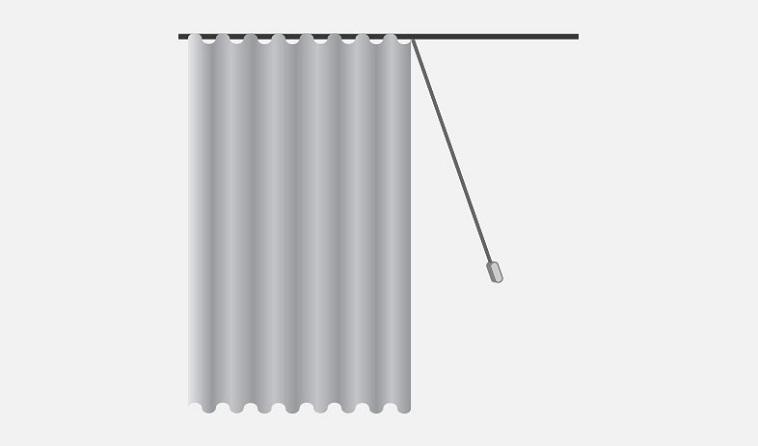 Cord Drawn Sheer Curtains