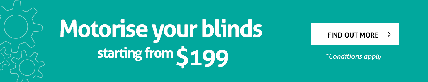 Motorise your blinds starting from $199