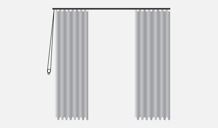 Hand Traverse Soft Fold Curtains